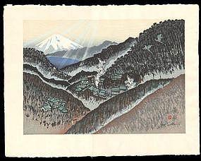 Hakone - Woodblock from Sekino's Tokaido Road