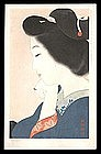 Shin Hanga Beauty Japanese Woodblock - Tipsy