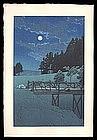 Early Edition Hasui Woodblock � Akebi Bridge