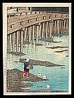 Early Edition Hasui Woodblock � Gionbashi