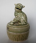 A Rare Incense Burner With Cover of Lion Figure