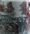 A Qing Dynasty Large Underglazed Blue-Red Vase
