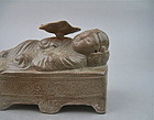 A Rare Early Celadon With Sleeping Immortal Figure