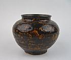 A Tortoise Shell Glazed Jar (Song/Yuan Jizhou Wares)