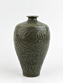 MASTERPIECE OF NORTHERN SONG YAOZHOU WARE CELADON MEIPING