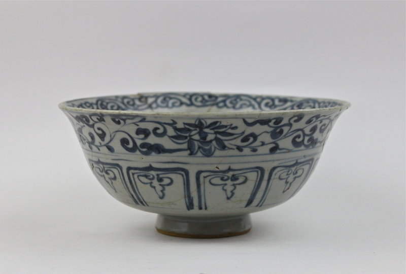RARE RECENTLY RECOVERED OF YUAN DYNASTY B/W BOWL