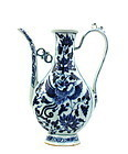 A RARE & FINE B/W OF FLATTENED EWER WITH PHOENIX (YUAN DYNASTY)