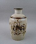 A MING STYLE CIZHOU WARE MEIPING VASE