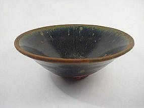 Black Glazed Conical Bowl