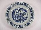 Blue & White Plate