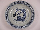 Blue & White Saucer Dish