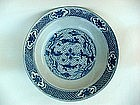 A Late Ming B/W Dish With Fishes
