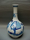 An Elegant Shape Of  B/W  Kangxi Style Bottle Vase