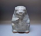 A Very Rare Jun-Glaze Bear Figure
