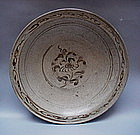 A Fine Annamese Plate With Crackled Glaze