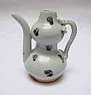 A Rare Yuan Iron-Brown Spotted Double Guard Ewer