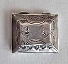 Unmarked Vintage Navajo Silver Pill Box