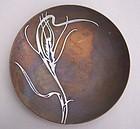 Heintz Art Metal Shop Silver on Bronze Dish / Card Tray