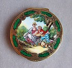 Italian Silver and Enamel Compact, 18th century style