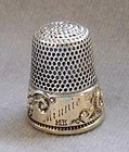 Sterling Silver and 14K Gold Thimble, circa 1900