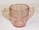 Jeannette Pink DORIC and PANSY CHILDS SUGAR BOWL