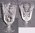 Heisey Crystal ORCHID 6.5 Inch No 5025 ICE TEA TUMBLER