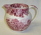WOODS SONS ENOCH Pink ENGLISH SCENERY 24 Oz PITCHER