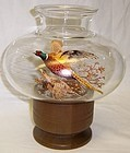 Westmoreland 8 In PHEASANT CANDLE LAMP-Wood Base