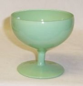Anchor Hocking RAINBOW Green 3 1/4 In FOOTED SHERBET
