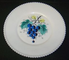 Westmoreland BEADED EDGE Painted GRAPES 8+ PLATE