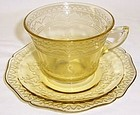 Federal Amber PATRICIAN SPOKE CUP and SAUCER