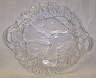 Indiana Crystal AVOCADO 10 1/4 In Handled CAKE PLATE