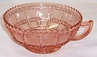 Imperial Pink BEADED BLOCK 5 1/2 Inch One HANDLED BOWL