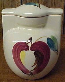 Purinton Pottery Slip Ware APPLE GREASE JAR with LID