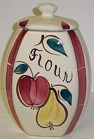 "Purinton Pottery Slip Ware FRUIT 8 3/4"" FLOUR CANISTER"