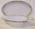 Signature China Japan QUEEN ANNE SAUCE BOAT w/PLATE