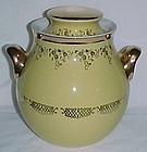 Hall GOLD SQUIGGLE Yellow BIG EAR COOKIE JAR w/LID