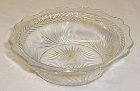 Jeannette Crystal SUNBURST 4 3/4 In FRUIT or BERRY BOWL