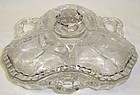 Cambridge Crystal ROSE POINT 8 In 3 Pt CANDY BOX w/LID