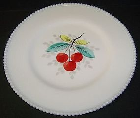 Westmoreland BEADED EDGE 10 1/4 Hp CHERRIES PLATE