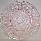 Jeannette Pink FLORAL POINSETTIA 8 Inch SALAD PLATE
