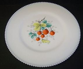 Westmoreland BEADED EDGE 10 1/4 STRAWBERRY PLATE