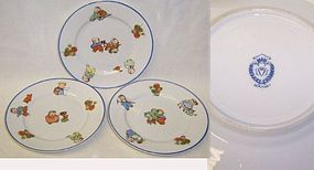 Vintage Germany China Three BABY FATS Childrens Plates