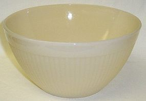 Anchor Hocking Fire King Ivory JANE RAY 7 1/2 In RIBBED BOWL