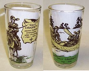 Unknown Maker DAVY CROCKETT 5 1/8 Inch WATER TUMBLER