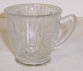 Jeannette Crystal IRIS and HERRINGBONE DEMITASSE CUP