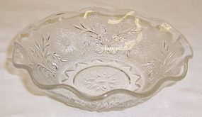 Anchor Hocking Crystal SANDWICH 5 Inch RUFFLED BOWL