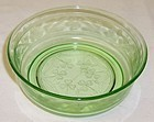 Hazel Atlas Green CLOVERLEAF 5 Inch CEREAL BOWL