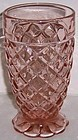 Hocking Pink WATERFORD WAFFLE 5 1/4 Footed TUMBLER