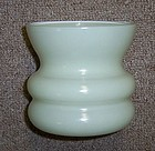 Anchor Hocking Fire King Yellow 3 5/8 Inch SQUATTY VASE